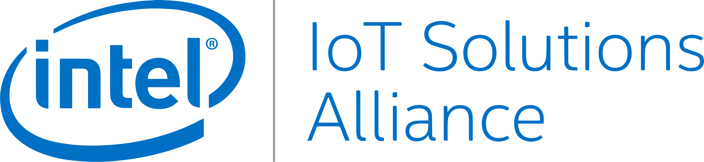 Intel IoT Solutions Aliance Logo Color